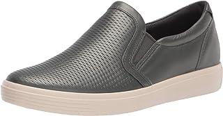 ECCO Women's Soft Classic Slip On Sneaker, Dark Shadow Metallic, 8 M US