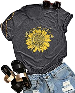 I Just Wanna Soak Up The Sun Sunflower T-Shirt Women Cute Funny Graphic Tee Teen Girls Casual Short Sleeve Shirt Tops Size XL (Dark Gray)