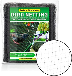 Bird Netting for Garden, Fruit Tree Poultry Protection Net, Reusable Protective Net for Garden, Plants, Trees - Extra Stro...