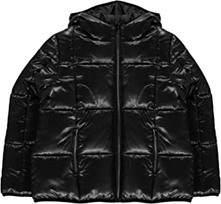 USA Pro Girls Quilted Jacket Junior Long Sleeve Hooded Top Kids
