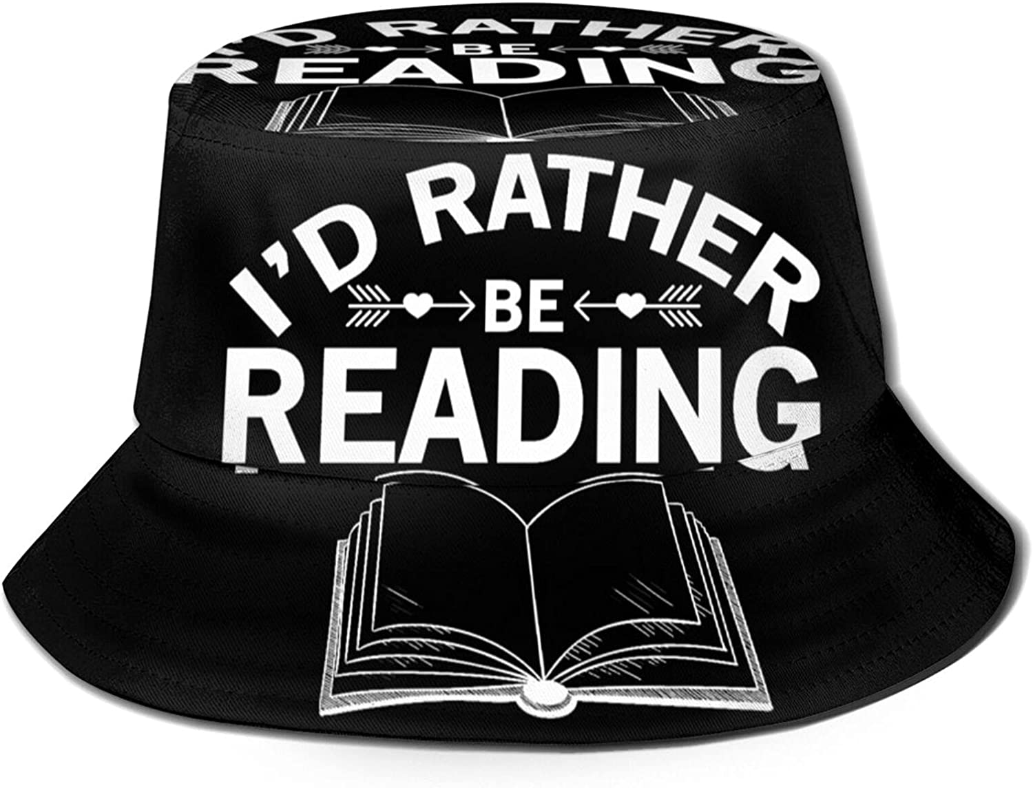 I'd Rather Be Reading Bucket Unisex Packable Hat Sun New item Rapid rise Summer