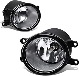 Rxmotor For Toyota Yaris RAV4 Camry Avalon Corolla Lexus GS350 GS450h Pair of Bumper Driving Fog Lights Driver Passenger Side Replacement Foglight Lights (Chrome)