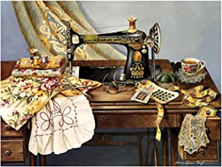 LIPHISFUN 5D DIY Diamond Painting Full Drill Square Resin Rhinestone Embroidery Unfinished Cross Stitch Home Decor Gift Sewing Machine(30x40cm)