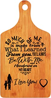 Mothers Day Gifts - LANGXUN Personalized Engraved Bamboo Cutting Board for Mothers Day Gifts, Mothers Birthday Gift, Mom and Grandma Gift, Ideal Presents for Mom