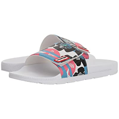 Hunter Original Floral Stripe Adjustable Slide (Floral Stripe/Peony) Women