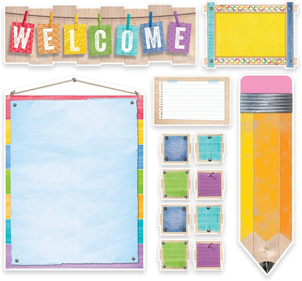 Creative Teaching Regular Branded goods store Press Upcycle Style Bulletin Board 70 Welcome