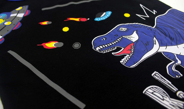 BLOMDES Pigiama per Ragazzi Dinosauro Pigiama a Maniche Lunga per Ragazzi 2-8 Anni