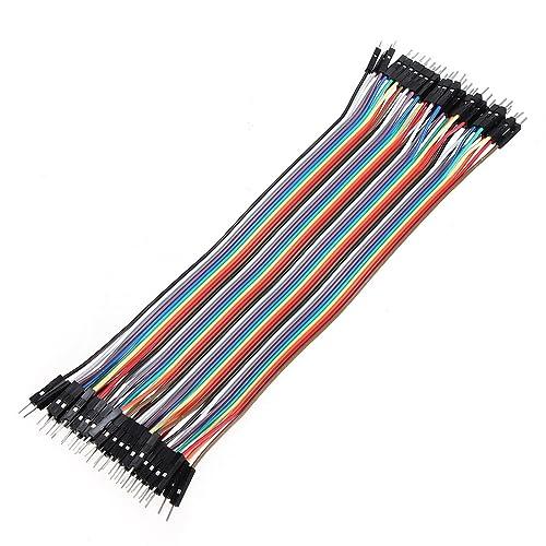 40 cables de puente macho a macho para Arduino (20 cm, 2,54