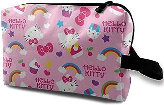 Kosmetiktasche Hello Kitty Kopf tragbare Reise Make-up Tasche Kosmetik Organizer Multifunktions Kulturtasche Aufbewahrung Fall