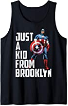 Marvel Avengers Captain America Just A Kid From Brooklyn Tank Top