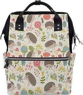 Hedgepig Hedgehog Diaper Bag Backpack Mom Bag Casual Lightweight Large Capacity for Travel Mammy Women Girls