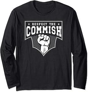 Funny Fantasy Football Commish Draft Party League Gift Long Sleeve T-Shirt