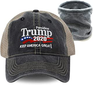 Trump 2020 Keep America Great Campaign Embroidered US Hat | Baseball Bucket Trucker Cap (Trucker Charcoal)
