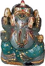 gemhub Hindu God Statue Approximately 1721.00 Carat - Lab Certified Green Jade Gemstone Ganesha Statue V-4472