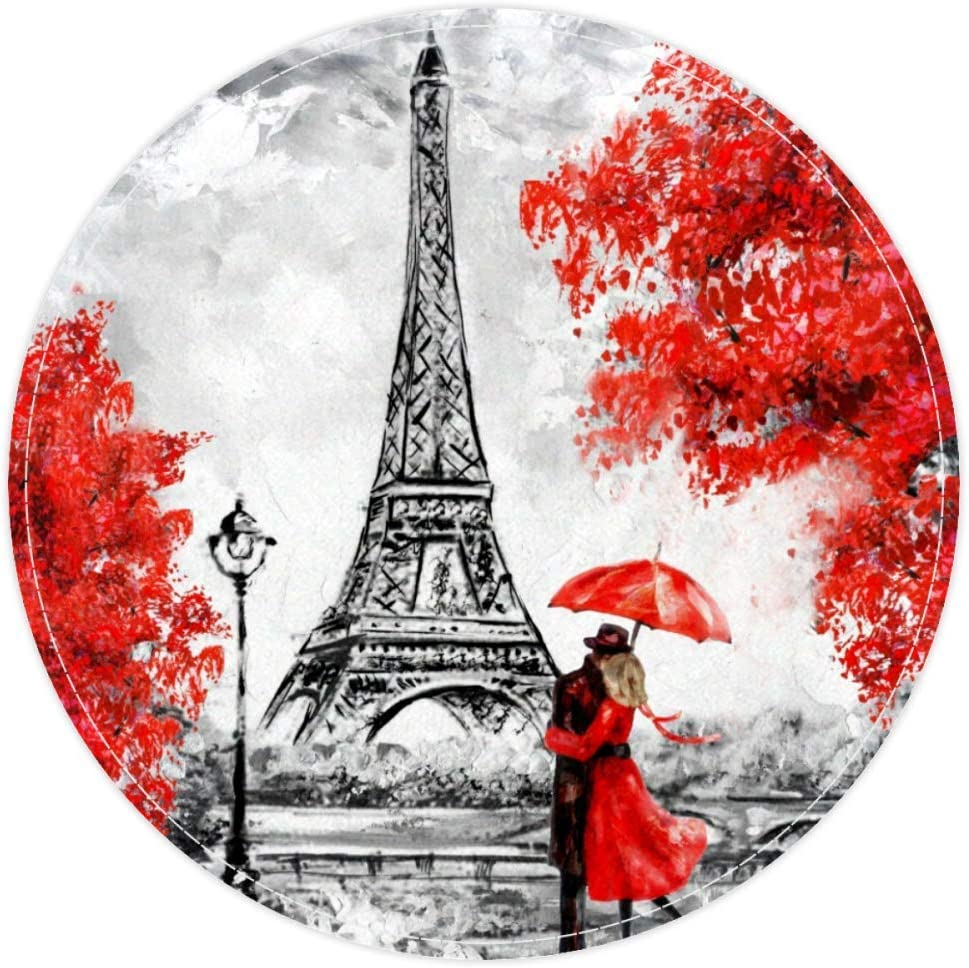 Heeeh Paillasson antid/érapant Motif Tour Eiffel 15,7 cm 40x40cm//15.7x15.7IN Multi 10.
