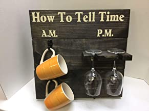 How To Tell Time, AM PM coffee and wine Classic Black
