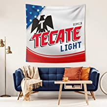 "Ruslin Tapestry Tapestries Wall Hanging Tecate-Beer- Tapestry for Living Room Decoration 59""x 59"""