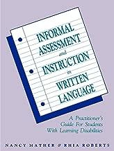 informal assessment for learning disabilities