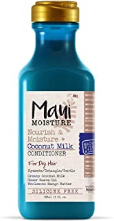 Maui Moisture Nourish & Moisture + Coconut Milk Conditioner, 13 Ounce, Lightweight for Daily Use Without Product Build-Up,...