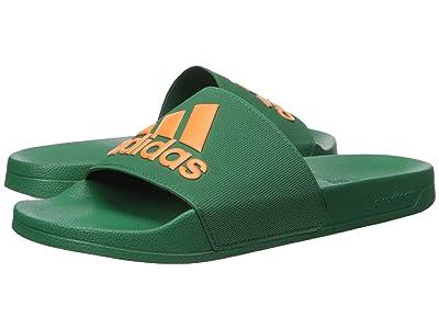 adidas Adilette Shower (Dark Green/Orange/Dark Green) Men