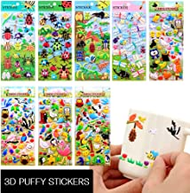 Stickers for Kids Sea World 3D Puffy Stickers for Kids Colorful Fish Shark Starfish Underwater 8 Different Sheets Art Crafts for Scrapbook Birthday Party Favors Reward Gift bird