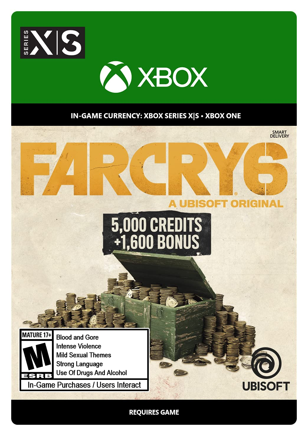 Far Cry 6: Beauty products Virtual Currency X-Large 6 Pack Credits 600 Xbox Purchase -
