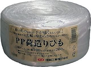 信越工業 荷造り梱包用 PPひも(幅広テープ) 長さ200m CT1320