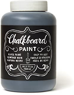 American Crafts DIY Shop Chalkboard Paint 16.5 Ounces, Black (366867)