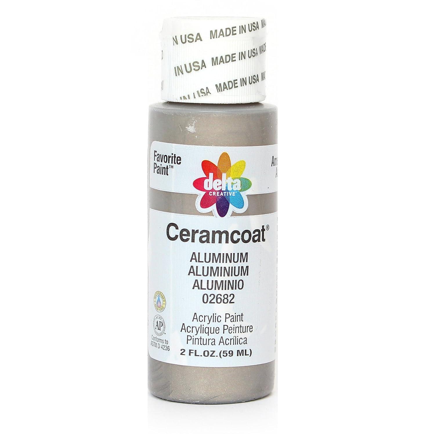 Delta Creative Ceramcoat Acrylic Paint in Assorted Colors (2 oz), 2682, Aluminum