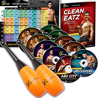 KettleClubz Fitness Indian Club/Club Bell Training Workout Program Includes Beginner 2lb Weights