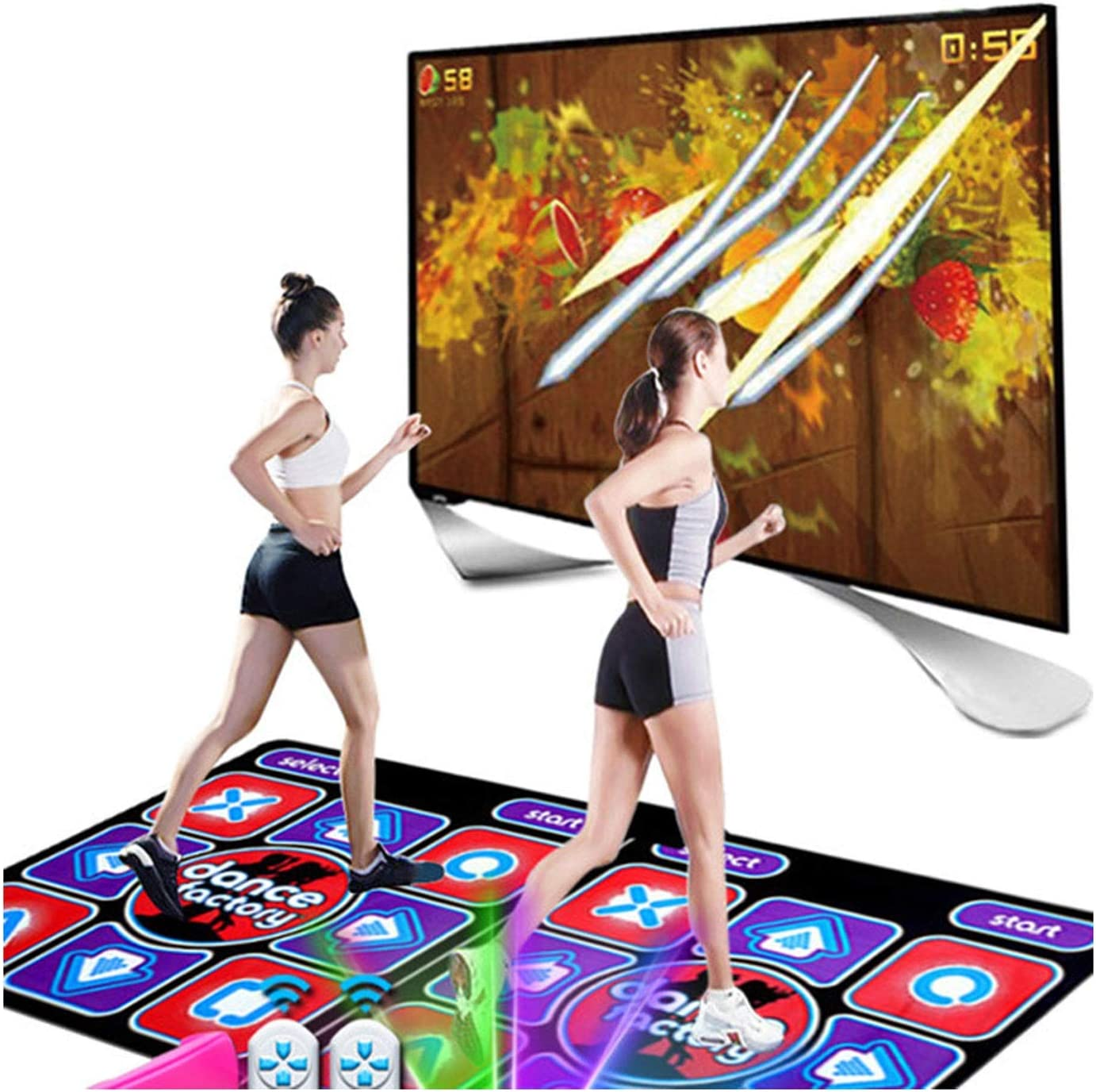 ACD Double Dance Mats Special price for a limited time Non-Slip Dancing for Ho Mat Pad Step Sale item