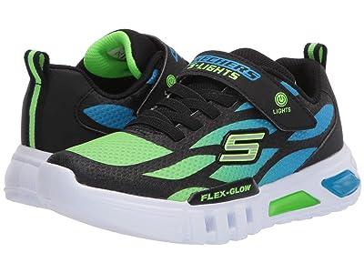 SKECHERS KIDS Sport Lighted Flex-Glow 400016L (Little Kid/Big Kid) (Blue/Black/Lime) Boy