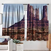 Landscape Custom Curtains Famous Monumental Valley Grand Canyon and Red Rocky Cliffs USA Arizona Photo Print Thermal Blackout Curtains 72
