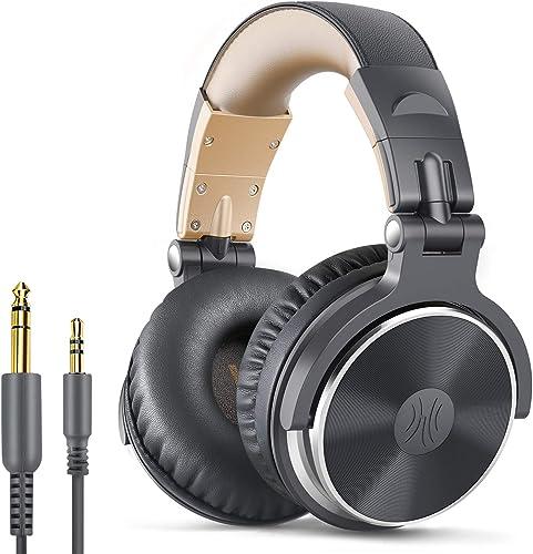 OneOdio Adapter-Free Closed Back Over-Ear DJ Stereo Monitor Headphones, Professional Studio Monitor & Mixing, Telesco...