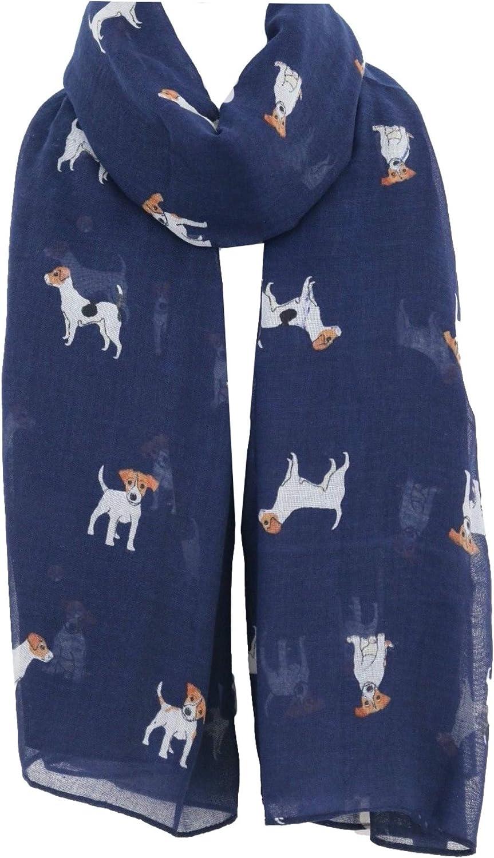 Pug Dog Dachshund Dogs 5% OFF Spaniel Print L Scarf Indianapolis Mall Seasons All -
