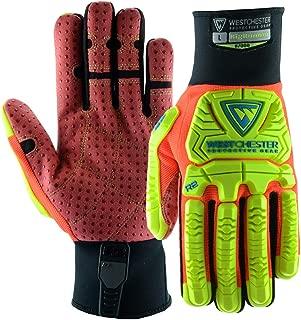 West Chester Medium Black R2 Evolution Synthetic Leather Full Finger Mechanics Gloves With Neoprene Cuff - 72 Pair/Case