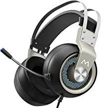 Mpow EG3 Pro Gaming Headset with 3D Surround Sound, PS4 Xbox One Headset with Noise Cancelling Mic, Gaming Chat Headset, Over-Ear Gaming Headphones for PC