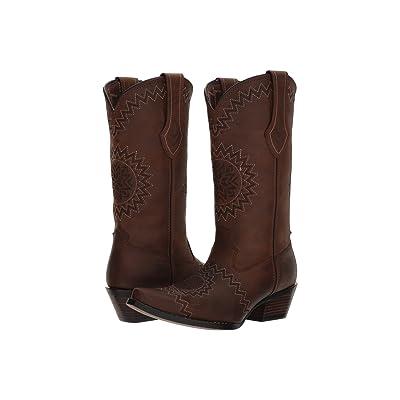 Durango Crush 12 Laser Etch (Dark Chocolate) Cowboy Boots