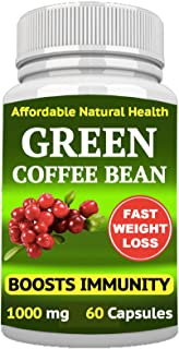 Green Coffee Bean Extract, Natural Weight Loss, Blood Sugar Control Support, 50% CHLOROGENIC ACIDS, Non-GMO, Gluten Free, ...