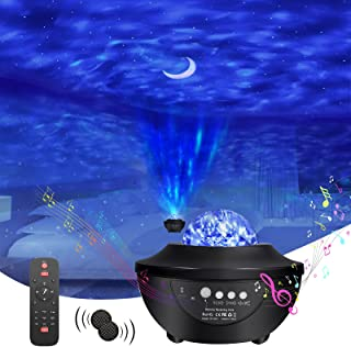 Galaxy Star Projector, Night Light Projector with 2 Bluetooth Speaker Remote Control Timer 3 in 1 Aurora Star Moon Galaxy ...