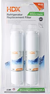 HDX FMM-2 Replacement Water Filter / Purifier for Whirlpool Refrigerators (2 Pack)