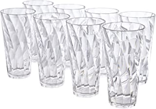 Optix 26-ounce Clear Plastic Cups, Set of 8