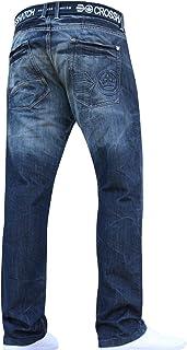 New Mens Boys Crosshatch Jeans Pants Trousers Designer Big King Branded All Waist & Leg Sizes