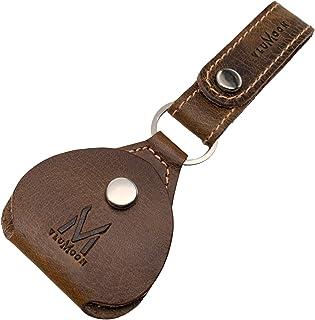 Leather Pick Holder Keychain with Belt for Handmade guitar picks Keychain Quarter holder keychain, Mandolin, Ukulele or Ba...
