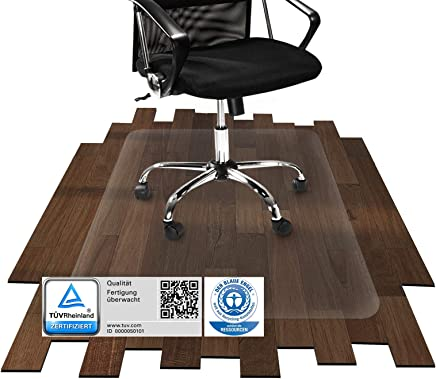 etm® Bodenschutzmatte - 120x90cm | TÜV / Blauer Engel | transparent, für Laminat, Parkett, Fliesen und Hartböden