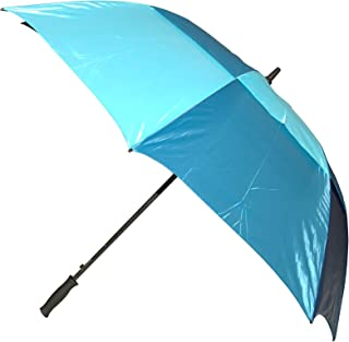 Raintech Windproof Double Canopy Golf Umbrella with 62-inch Canopy Coverage and Velcro Closure, Colors May Vary, 1 Pack