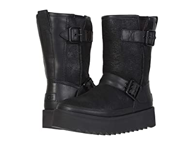 UGG Classic Rebel Biker Short (Black) Women