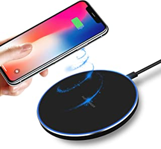 Xiaohe Qi Wireless Charger 7.5W Compatible with iPhone 11/11 Pro/11 Pro Max/8/8 Plus/X/Xs/Xs Max/XR, 10W Fast Wireless Charging Pad Compatible with Samsung Galaxy S9/S9+/S8/S8+/Note 8 (Black)