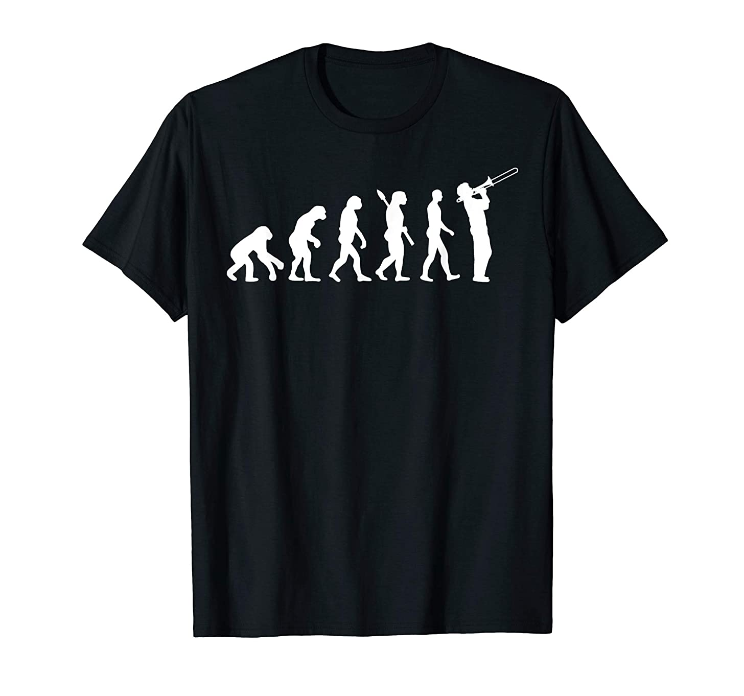 Evolution trombone player T-Shirt Funny Orchestra Gift