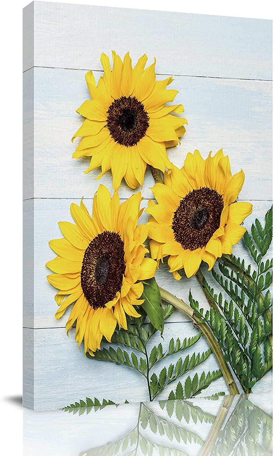 Canvas Wall Art Sunflower Omaha Mall Board Painting Picture Framed Abstract Ranking TOP8